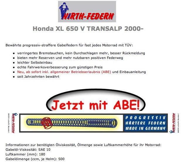 custom WIRTH-Federn